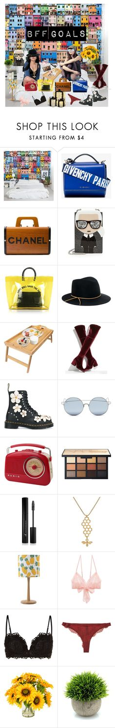 """""""Gals"""" by miloni-jhaveri on Polyvore featuring Givenchy, Chanel, Karl Lagerfeld, Dsquared2, Eugenia Kim, Stuart Weitzman, Dr. Martens, For Art's Sake, Forever 21 and Christian Dior"""