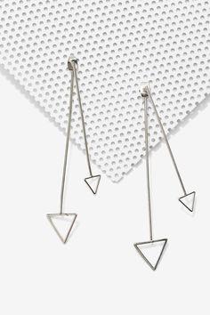 Down 'n Dirty Arrow Jacket Earrings - Accessories | Earrings | Silver