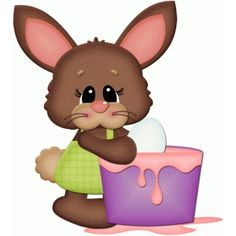 Silhouette Design Store: easter bunny coloring egg pnc