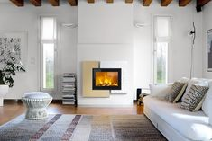 Pellet Stove, Ikea, Fireplace Mantels, Fireplaces, Cornice, Cladding, Architecture Design, Loft, Colours