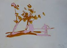 "Saatchi Art Artist Frederic Belaubre; Drawing, ""Pink Landscape"" #art"