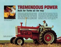 International Farmall 1206 Turbo 3 Fold Brochure 1966 Ad 3222 S | eBay