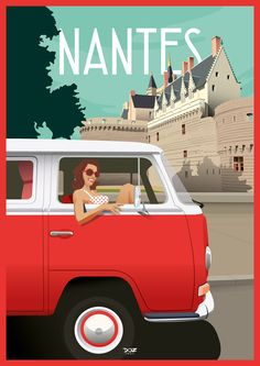 Doz Affiches Vintage- Nantes – Expolore the best and the special ideas about Vintage logos Vintage Travel Posters, Vintage Postcards, Vintage Images, Vintage Logos, Logo Site, Jolie Images, Brochure Cover, Cities, City Photography