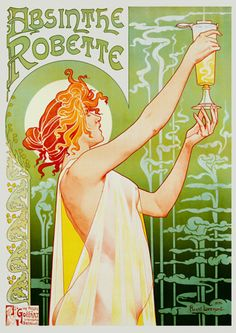 Absinthe Robette   by Privat-Livemont  Art Nouveau drink poster  I have this in a huge print! Can't wait to frame this beauty.