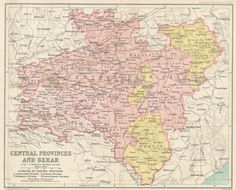 Central Provinces and Berar, 1909. Berar was annexed from the 'princely state' of Hyderabad in 1903.