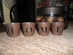 Metal HOME Votive Candle Holders in LeChic's Garage Sale in Stilwell , KS for $10.00. Hallmark Card Product - Metal H O M E Votive Candle Holders - Great for recorating during any season! (Candles not included)