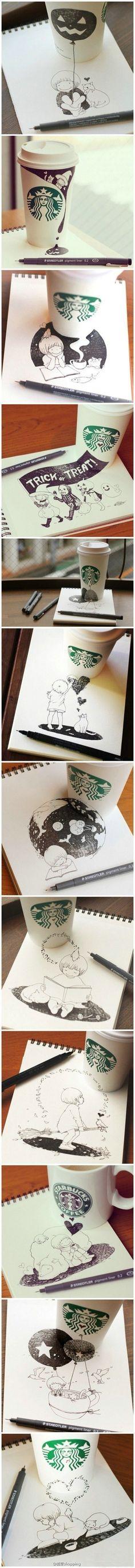 Starbucks doodle