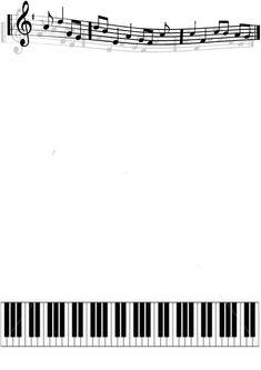Simple Music Border by KirstyLouiseWilson.deviantart.com on @deviantART