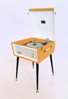 """VINTAGE  DANSETTE """"BERMUDA"""" RECORD PLAYER & LEGS - 1960's FULLY SERVICED Crosley Record Player, Retro Record Player, Drafting Desk, Mid-century Modern, Retro Vintage, 1960s, Cabinets, Egg, Mid Century"""