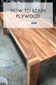 Learn the AZ process for staining plywood from selecting the right type of wood to prepping your wood to receive stain to staining all types of plywood Woodworking Tools For Sale, Woodworking Projects Diy, Woodworking Furniture, Plywood Furniture, Woodworking Plans, Furniture Plans, Furniture Design, Furniture Assembly, Popular Woodworking