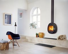 Scan Wall Mounted Wood Burning Stove From Fireplace Products Interior Architecture, Interior And Exterior, Interior Design, Foyers, Living Spaces, Living Room, Bedroom Wardrobe, Wood Burner, Home Furniture