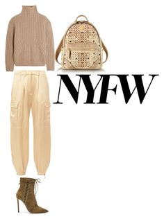 nude by liekejongman on Polyvore featuring Totême, Redemption, Oscar Tiye and MCM