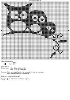 Three owls on a perch Cross Stitch Owl, Dragon Cross Stitch, Beaded Cross Stitch, Crochet Cross, Cross Stitch Animals, Cross Stitch Charts, Crochet Owls, Cross Stitching, Cross Stitch Embroidery