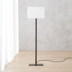 On sale. Sleek proportions square up, light up in contrasting mix of industrial and ethereal. Rectangular steel base ascends raw iron finish haloed by crisp white cotton box shade. Bronze Floor Lamp, Glass Floor Lamp, White Floor Lamp, Arc Floor Lamps, Contemporary Floor Lamps, Modern Floor Lamps, Modern Lighting, Modern Table, Modern Contemporary