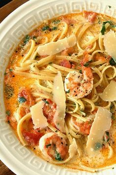 Fettuccine Rose with Shrimp