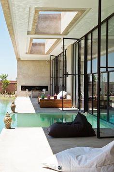 Indoor outdoor pool — luxury villa to rent in Marrakech, luxury Weddings, birthdays. location villa Marrakech,villa hoteliere d'exception a Marrakech 6 24 91 12 48 . Outdoor Pool, Outdoor Spaces, Outdoor Living, Outdoor Ideas, Indoor Outdoor, Villa Marrakech, Marrakech Morocco, Exterior Design, Interior And Exterior