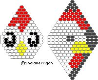 Chicken Earrings - Beadwork