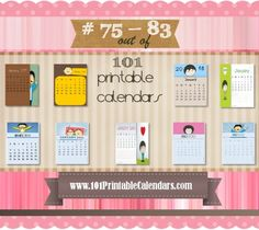 Free printable photo calendars Instant download Customize online
