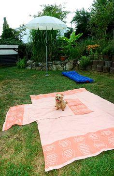 gewebte Schrift / gewebte Zitate Freizeit-Tuch (Liegetuch & Handtuch) Picnic Blanket, Outdoor Blanket, Strand, Beach Mat, Towel, Hemp, Sun, Weaving, Textiles