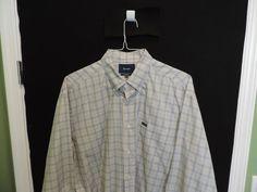"""Faconnable """"Classique"""" Designer Blue Plaid Shirt SZ 2XL Excellent Quick Ship #Faconnable #ButtonFront"""