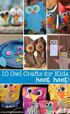 Love these owl crafts! Perfect for an owl unit study.