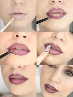 Tips for Lining Your Lips Like a Pro - Dark Liner Tutorial - Easy Tutorials and Awesome Hacks For Lip Liners - Kylie Jenner Tutorials and Black Women Tips - Thin Contouring Tutorials and Hacks for Eye Brows - Natural Shape Eyes - Simple Tricks for How Lip Liner Tutorial, Ombre Lips Tutorial, Lip Makeup Tutorial, Lipstick Tutorial, Best Lipstick Color, Best Lipsticks, Lipstick Colors, Lip Colors, Blue Lipstick