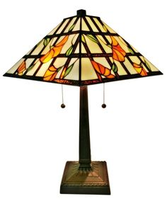 Amora Lighting Tiffany Style Mission Table Lamp 21 Inch AM218TL14 #AmoraLighting #StainedGlass