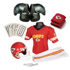 Kansas City Chiefs Youth NFL Ultimate Helmet and Uniform Set (Small)