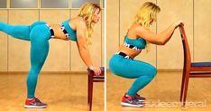 6 exercícios simples para chapar a barriga usando apenas uma cadeira - Isso é algo que sempre escutamos: ficar sentado por muito tempo pode danificar a sua