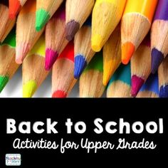 Back to School Activities for Upper Grades is a collection of  handouts that…