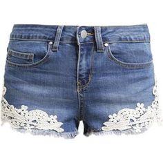 Even&Odd Szorty jeansowe mid blue denim