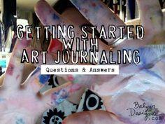 Terrific FAQ on getting started with art journaling: http://balzerdesigns.typepad.com/balzer_designs/2012/03/art-journal-every-day-getting-started.html