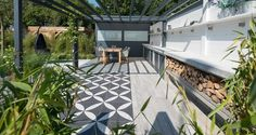 Small Space Interior Design, Interior Design Living Room, Gardening Tips, Small Spaces, Garden Design, Patio, Mugs, Outdoor Decor, Home Decor