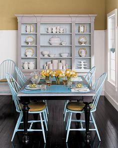 Simcoe Street: Design Inspiration: Yellow and Blue Colored chairs?