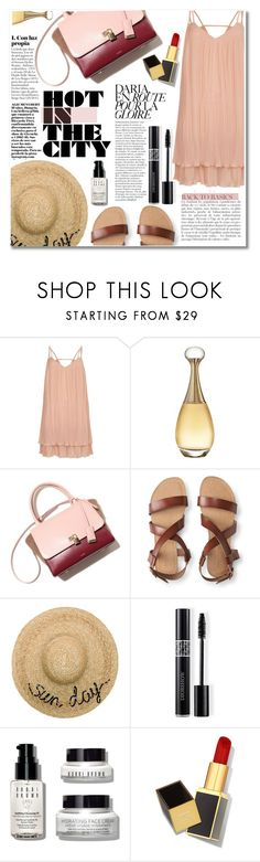 """Senza titolo #2102"" by aanyaa ❤ liked on Polyvore featuring River Island, Christian Dior, Aéropostale, Eugenia Kim, Anja, Bobbi Brown Cosmetics, Tom Ford and heatwave"