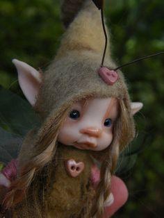 sweet tiny fairie fairy bug ooak polymer by throughthemagicdoor