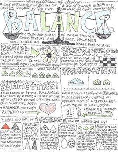 Principles of Design Worksheet Packet: 8 Instructional Handouts for Visual Art Principles Of Art Unity, Elements And Principles, Elements Of Art, Balance Art, Balance Design, High School Art, Middle School Art, 7 Arts, Art Worksheets