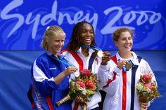 Venus Williams (USA), Elena Dementieva (RUS), and Monica Seles (USA)  2000 Sydney