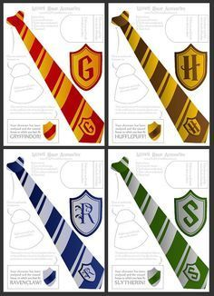 Harry Potter Tie Printable Template