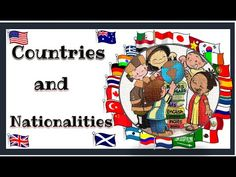 Countries and Nationalities (with sound) - English Language - YouTube