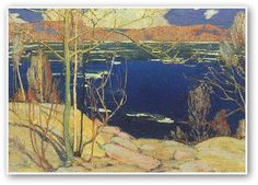 "Group of Seven painter, Tom Thomson - ""Spring Ice."" Isn't that lovely? Emily Carr, Canadian Painters, Canadian Artists, Landscape Art, Landscape Paintings, Tree Paintings, Group Of Seven Paintings, Tom Thomson Paintings, Catalogue Raisonne"