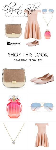"""""""Elegant Style"""" by hielevencom ❤ liked on Polyvore featuring Victoria's Secret, Ray-Ban and Boohoo"""
