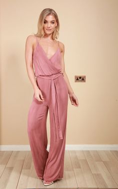 44763c61ceb1 Antonia Pink Wrap Around Jumpsuit Product photo Playsuits
