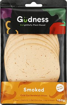 Gudness - SA's first ready to eat plant-based deli sandwich slice. Deli Sandwiches, Egg Muffins, Plant Based, Vegetarian, Nutrition, Diet, Snacks, Vegan, Drinks