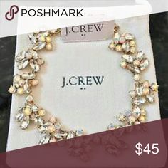 J crew irridecent crystal statement necklace, new Brand new. Stunning when worn. Purchased less than a month ago and hasn't been worn. j crew Accessories
