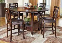 Landon Chocolate 5 Pc Counter Height Dining Set Find Affordable Room Sets For Your Home That Will Complement The Rest Of Furniture