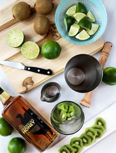 Key Lime Smash: Spend your Fridays this summer decompressing. Smash fresh kiwi & lime in this vibrantly hued and fun cocktail.