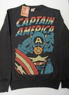 Primark Mens MARVEL Captain America Sweatshirt Jumper BNWT Various Sizes