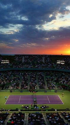 a4523a02747c Tennis Court Miami Open Sunset Smartphone Wallpaper and Lockscreen HD Check  more at https