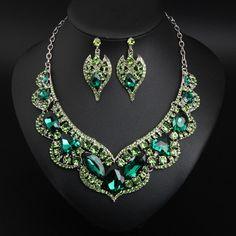 Luxury Prom Wedding Bridal Crystal Rhinestone Necklace Earrings Jewelry Set Gift | eBay Rhinestone Necklace, Crystal Rhinestone, Costume Jewelry Sets, Jewelry Watches, Fashion Jewelry, Bridal, Detail, Crystals, Luxury